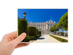 Madrid Spain photography in hand Stock Photos