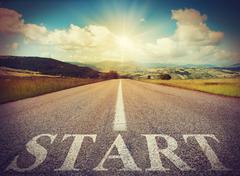 Start road - stock photo