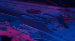 Dark abstract futuristic star wars spaceship background Stock Footage