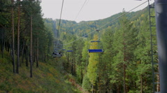 Stock Video Footage of rise on a ropeway