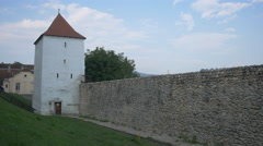 The restored bastion of Brasov fortress, Brasov Stock Footage