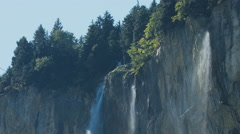 High Waterfall In the Swiss Alps Stock Footage