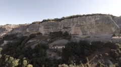 Bakhchisarai. Canyon Chufut-Kale. Move down. Stock Footage