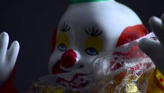 Focus in on clown toy Stock Footage