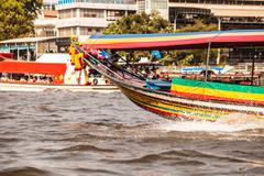 Long tail boat fore - stock photo