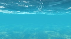 Clear Blue Underwater Scene with Light Reflections - stock footage