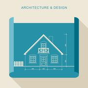 Architecture and design - stock illustration