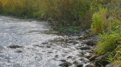 River panorama right left Stock Footage