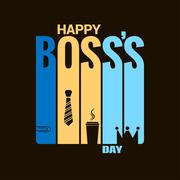 Boss day holiday design vector background Stock Illustration