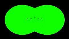 Binoculars with net on green screen Stock Footage