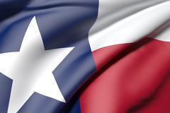 Texas flag Stock Illustration