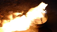 Fire in the bowl Stock Footage