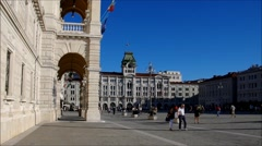 Stock Video Footage of Trieste, Piazza Grande in a timelapse
