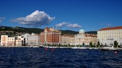 Trieste in Italy, the pier Stock Footage