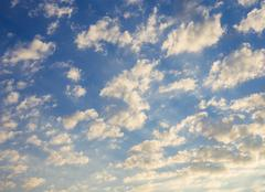 Scattered clouds - stock photo