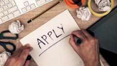 Apply for new job Stock Footage