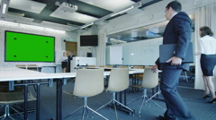 Office Workers are Coming to Conference Room.  - stock footage