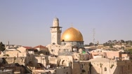 Stock Video Footage of Minaret and Mousque of Al-aqsa and in Jerusalem