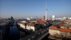 Berlin city in a timelapse Stock Footage