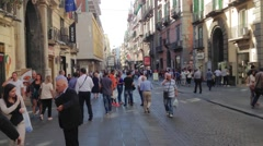 timelapse people in Toledo's stret - naples- It - stock footage