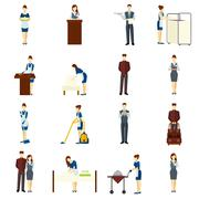 Hotel Staff Set - stock illustration