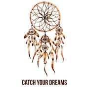 American indian dreamcatcher icon - stock illustration