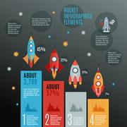 Stock Illustration of Rockets Infographic Set