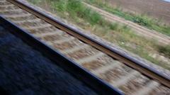 Running Railways Tracks - stock footage