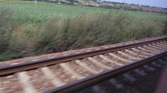 Fast Running Railways Tracks - stock footage
