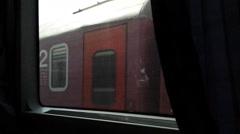 Passing by Train Car Wagon POV Stock Footage