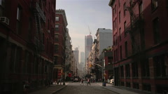 SoHo Early Morning Stock Footage