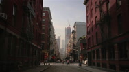 Stock Video Footage of SoHo Early Morning