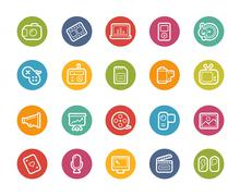 Multimedia Icons -- Printemps Series - stock illustration