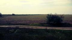 Deserted Land Vehicle POV Stock Footage