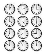 Clocks - stock illustration