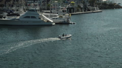 Long Beach Harbor, Dinghy & Boats, Small Craft Stock Footage