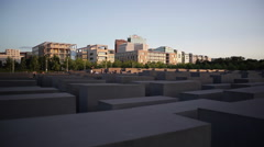 Memorial to the Murdered Jews of Europe, Holocaust, Berlin, pan right - stock footage