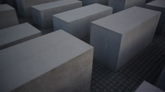 Memorial to the Murdered Jews of Europe, Holocaust, Berlin, tilt up - stock footage