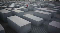 Memorial to the Murdered Jews of Europe, Holocaust, Berlin, pan left - stock footage