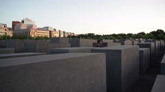 Stock Video Footage of Asian tourist at Memorial to the Murdered Jews of Europe, Holocaust, Berlin