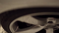 Close-up of a car tire Stock Footage