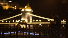 Budapest by night Stock Footage