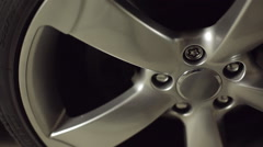 Close-up of of the car tire Stock Footage