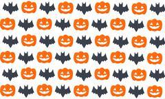 Set of pumpkins and Bats Stock Illustration