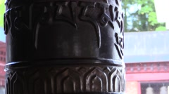 Tibet .Buddhism .Prayer wheels Stock Footage