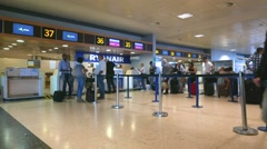 RyanAir Check-in Counter Time Lapse Stock Footage