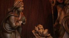 Manger scene sculpture Stock Footage