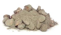 Building materials for making concrete Stock Photos