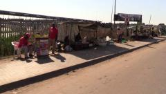 African Street stalls Stock Footage