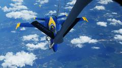Stock Photo of Blue Angels F/A-18 Fighter Refueling